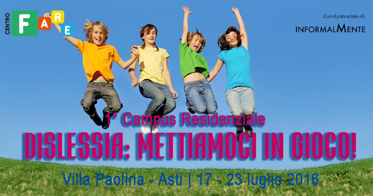 Campus Dislessia ad Asti - Centro F.A.R.E.